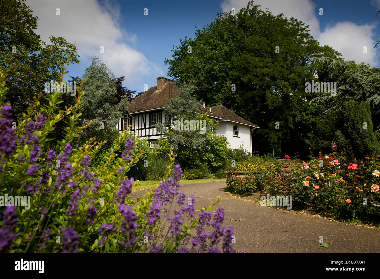 The Cathedral Gardens in Peterborough in Cambridgeshire - Stock Image