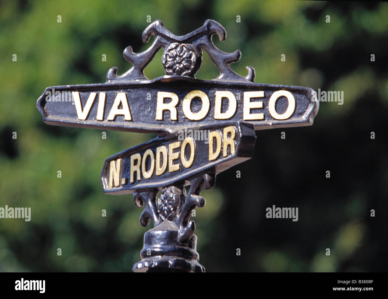 Beverly Hills, Rodeo Drive Sign - Stock Image