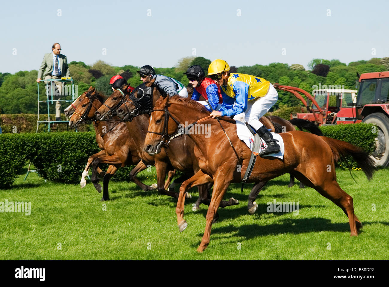 start of a Horse Race Stock Photo
