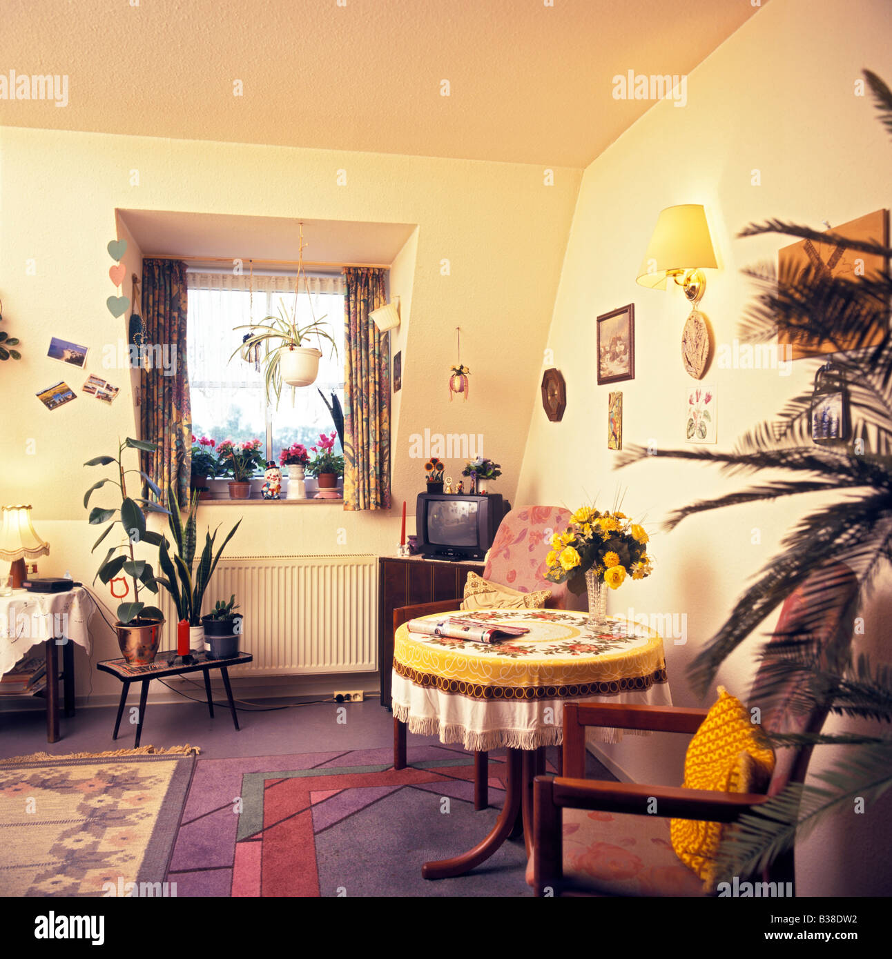 typical self furnished room in a retirement home, Germany - Stock Image