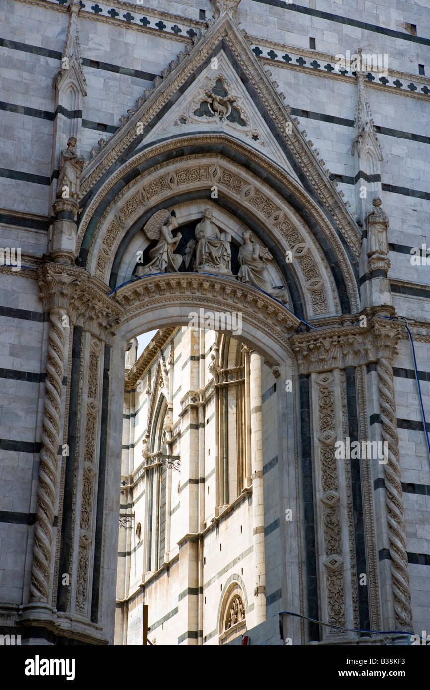 Arch near the duomo Siena Tuscany Italy - Stock Image