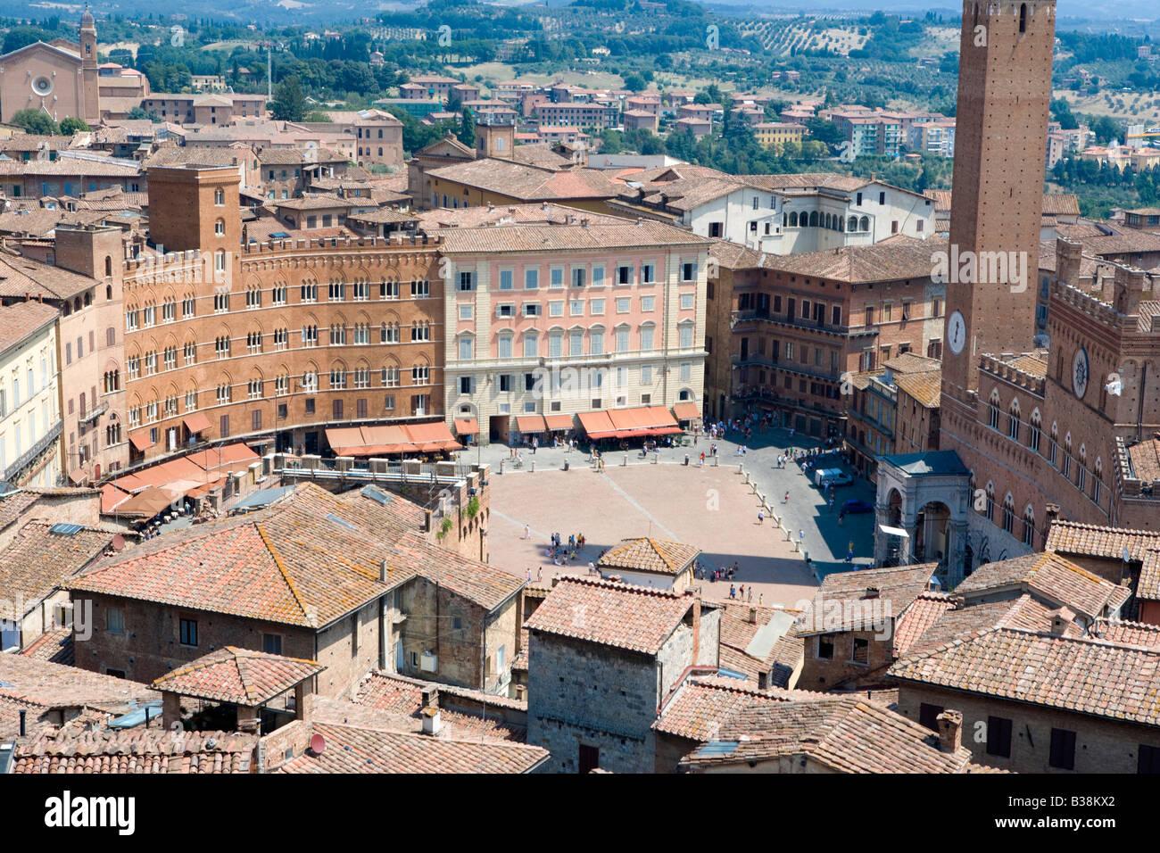 The Campo Siena Tuscany Italy - Stock Image