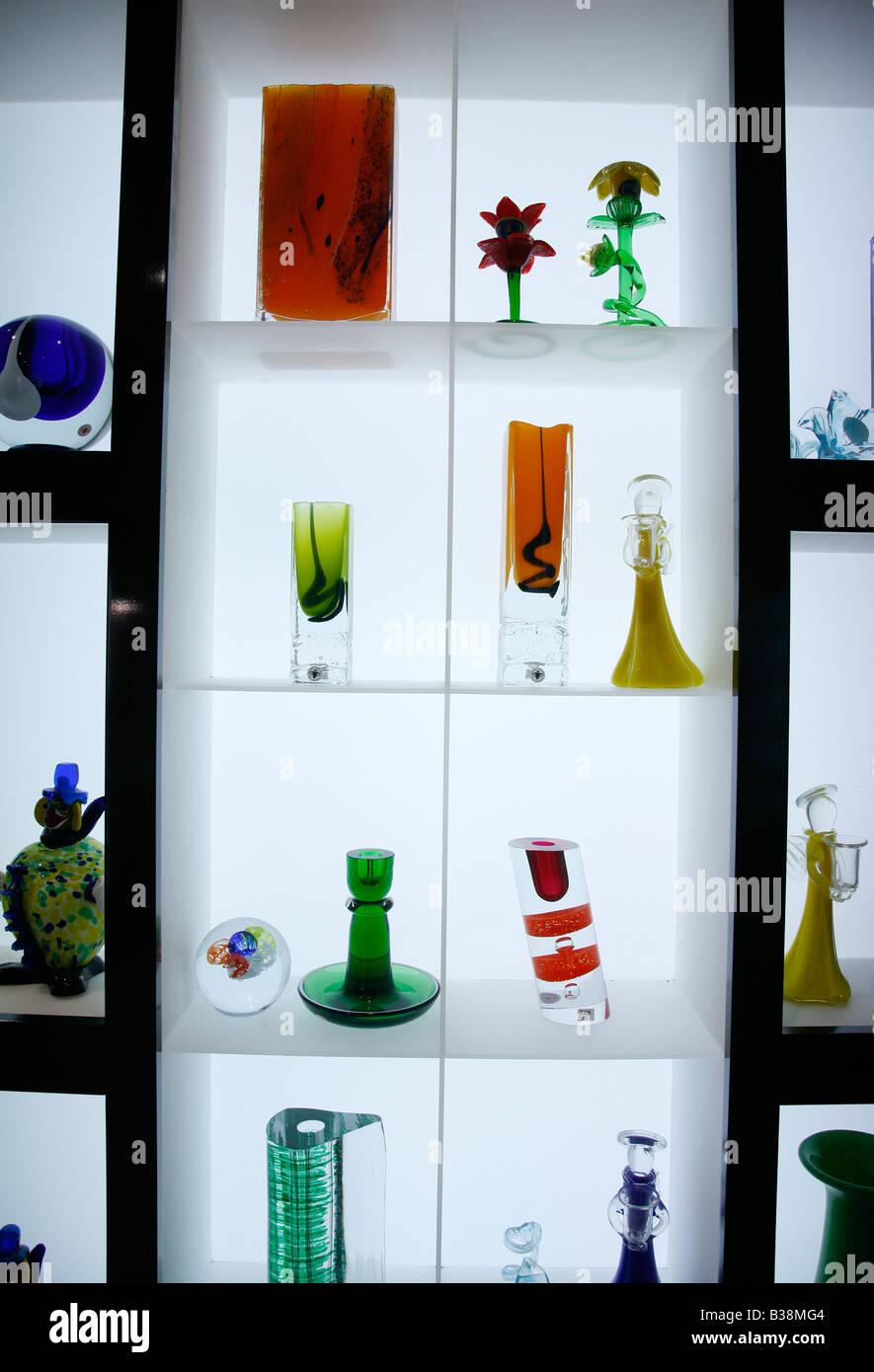 Aug 2008 - Bohemian Glass crystal Prague Czech Republic - Stock Image