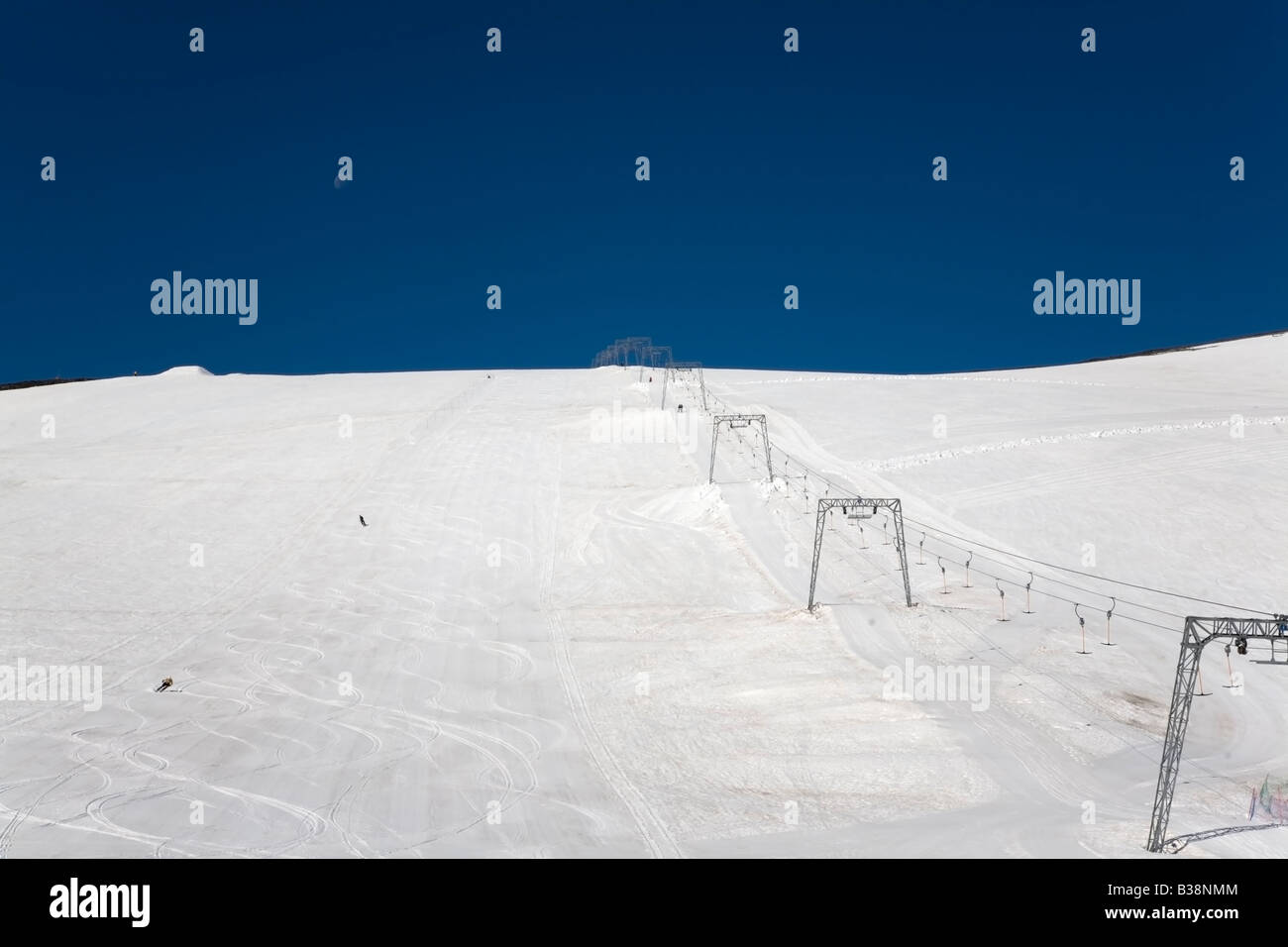 Norway Jotunheimen fjell Gald piggen summer skiing - Stock Image