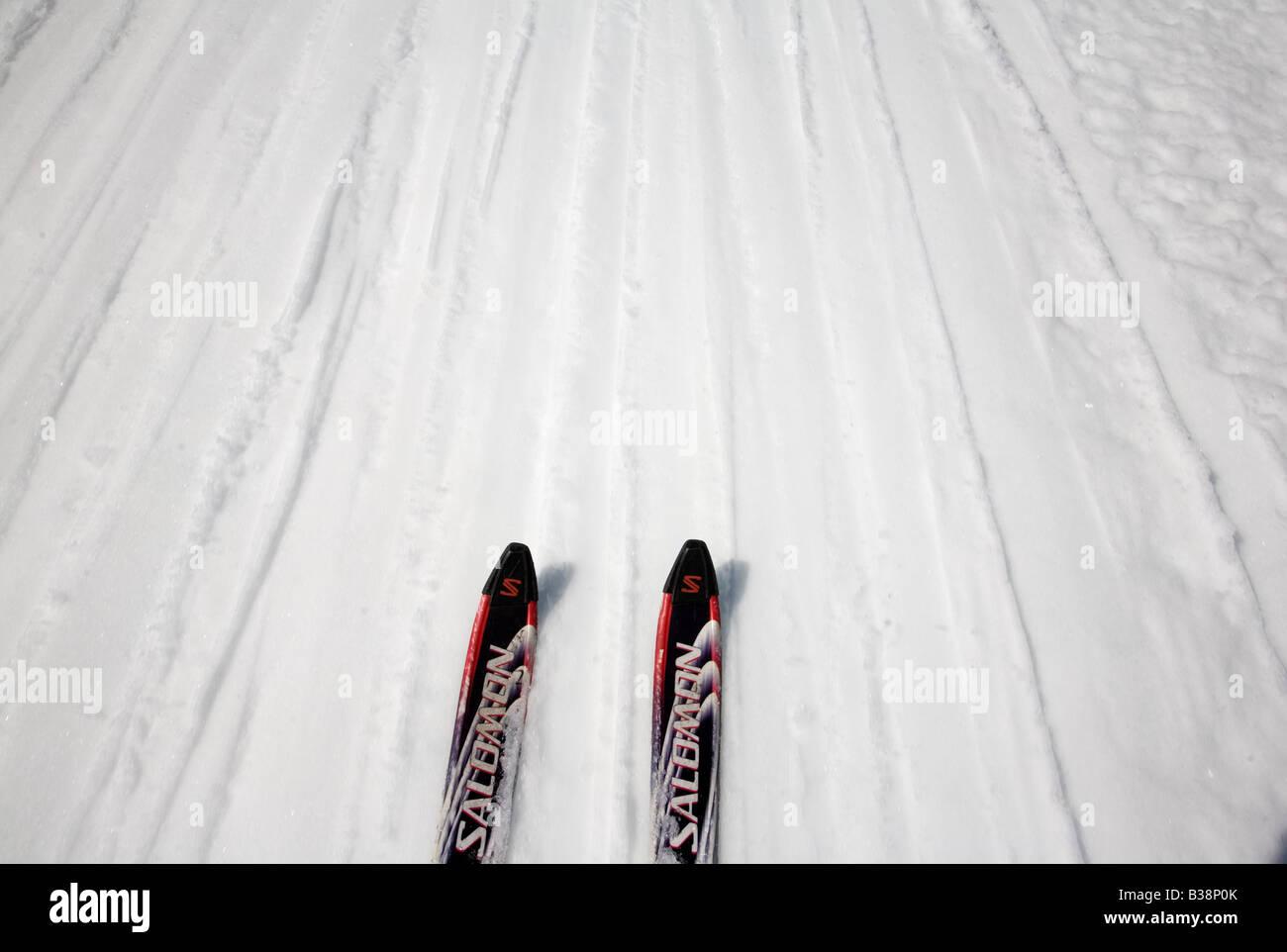 Norway Jotunheimen fjell Galdhöpiggen summer skiing - Stock Image