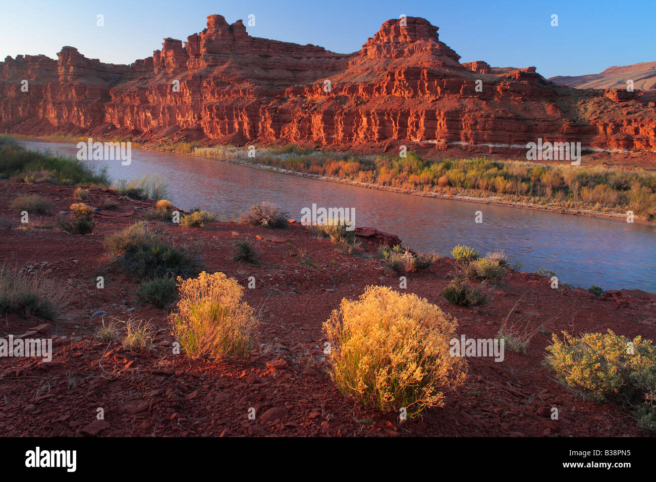 San Juan River at Mexican Hat, Utah - Stock Image