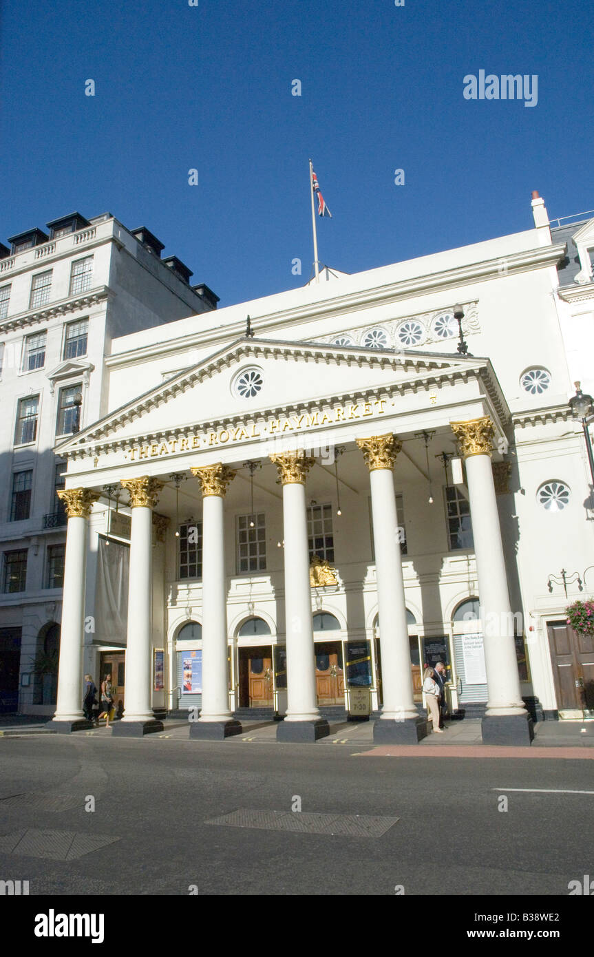 The Theatre Royal in Haymarket in Central London UK - Stock Image