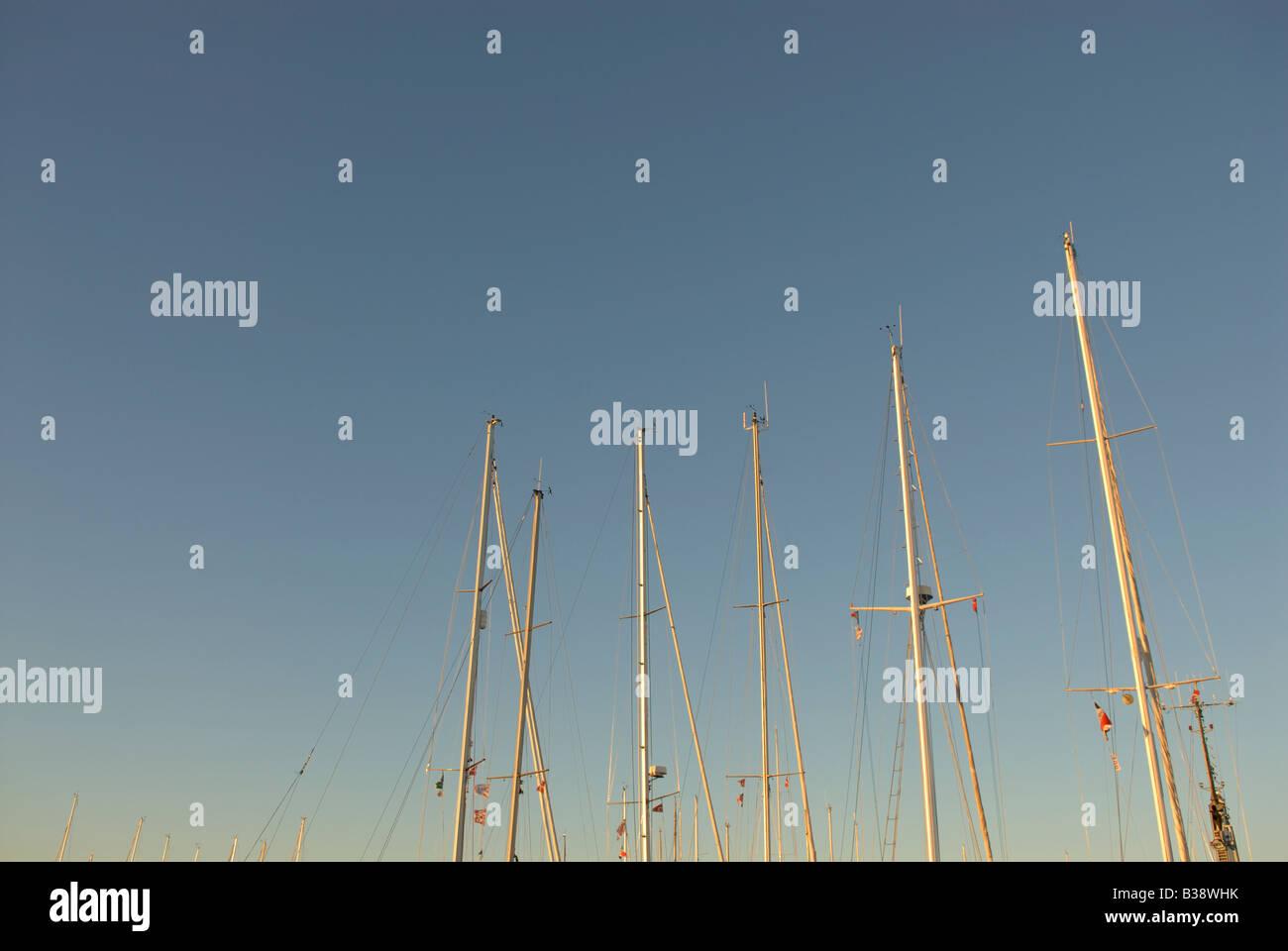 SHIP MASTS - Stock Image
