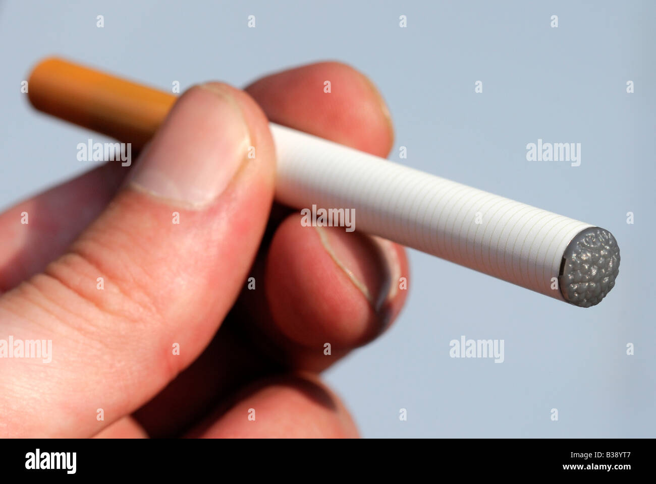 The Electronic Cigarette a device that simulates the functions of a cigarette without the harmful chemicals - Stock Image