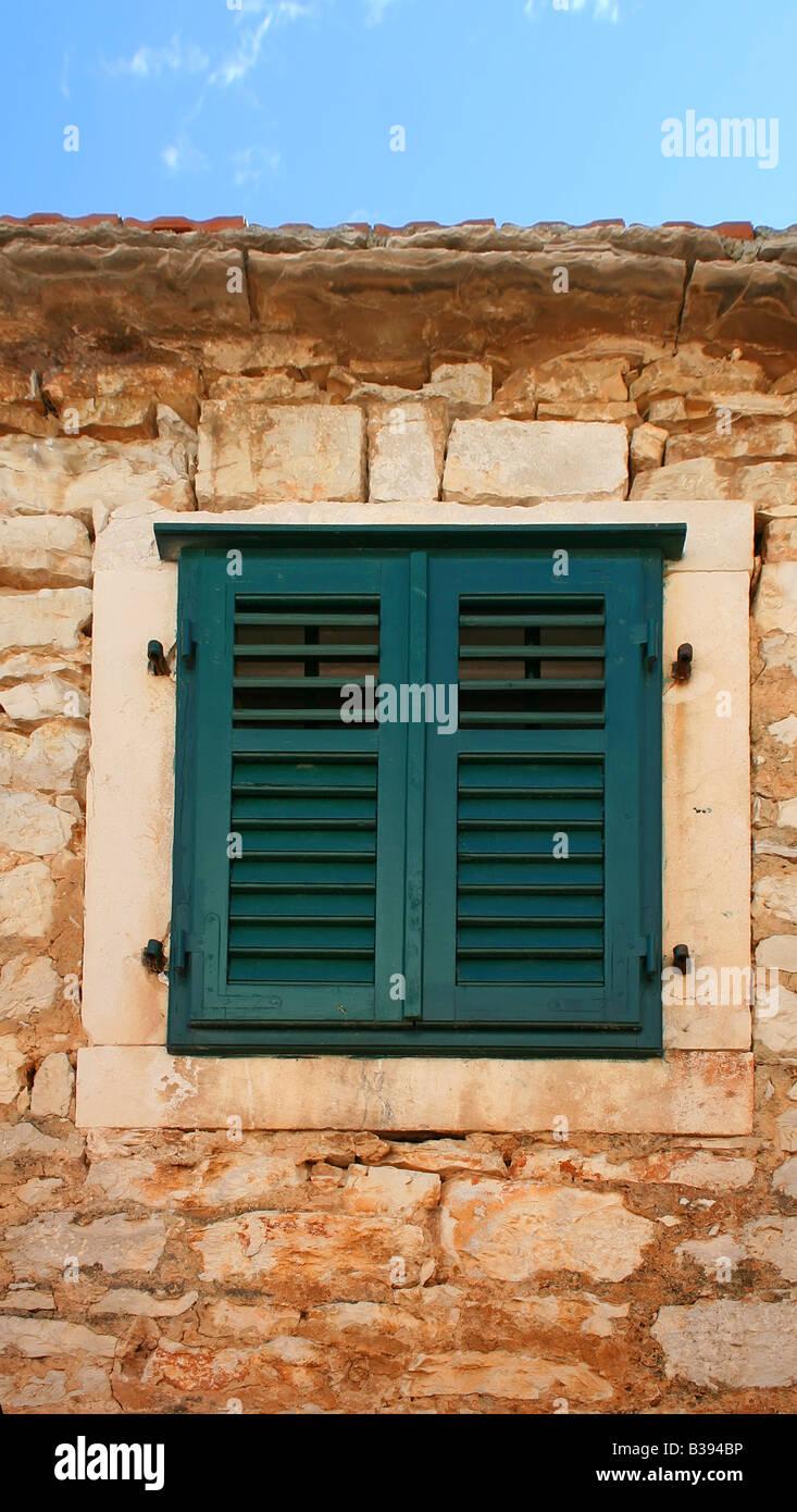 Dalmatian window - Stock Image
