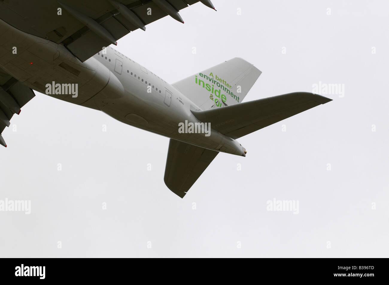 Airbus A380-842 Farnborough Air Show 2008 - Stock Image