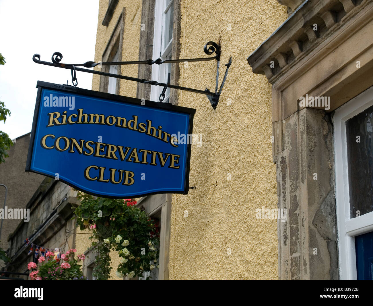 Sign outside Richmondshire Conservative Club Richmond North Yorkshire - Stock Image