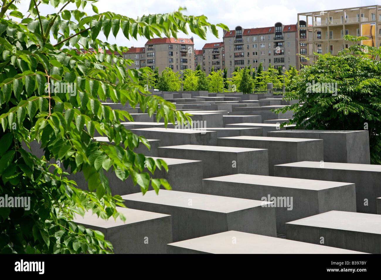 Deutschland, Berlin, Holocaust-Mahnmal, Germany Holocaust Memorial in Berlin Stock Photo