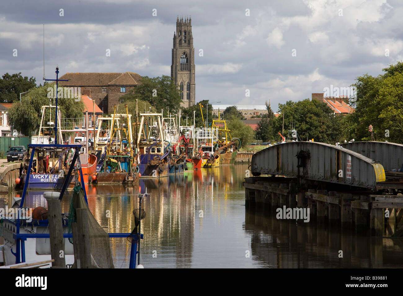the haven boston riverside boats lincolnshire england - Stock Image