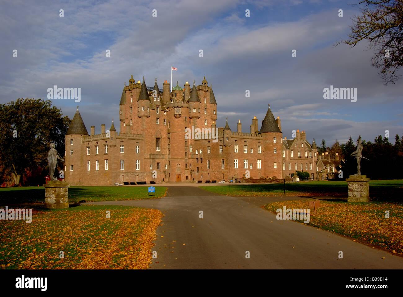 uk scotland tayside angus glamis castle - Stock Image