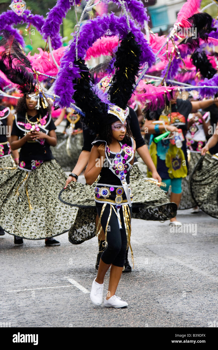 Dancers performing at the Notting Hill Carnival 2008 - Stock Image