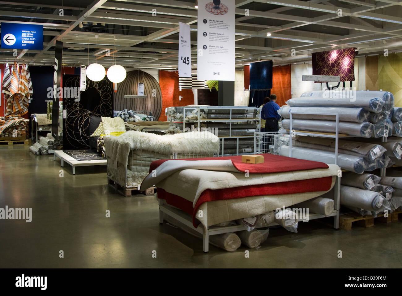 Soft Furnishings Department Ikea Store Milton Keynes Buckinghamshire