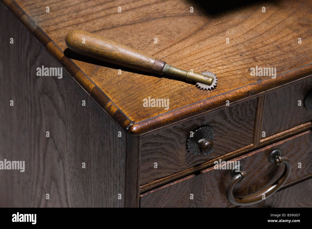 Antique tracing wheel - Stock Image