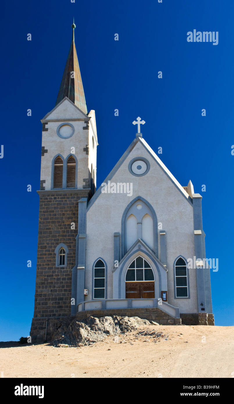 The Felsenkirche Church in Luderitz, Namibia - Stock Image