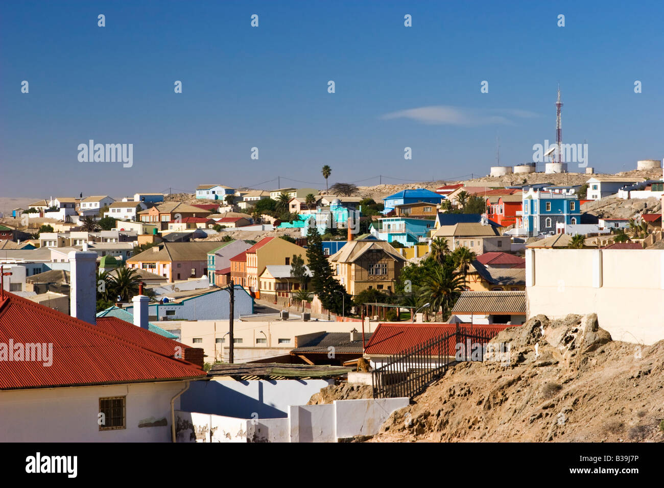 The Town of Luderitz, Namibia - Stock Image