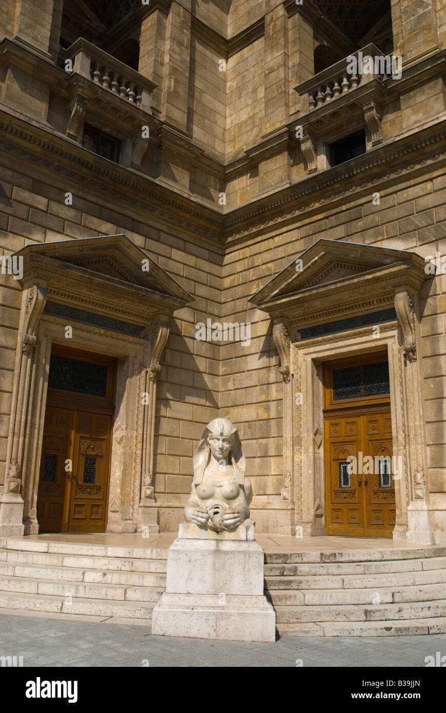 Statue outside Opera House on Andrassy boulevard in Budapest Hungary Europe - Stock Image