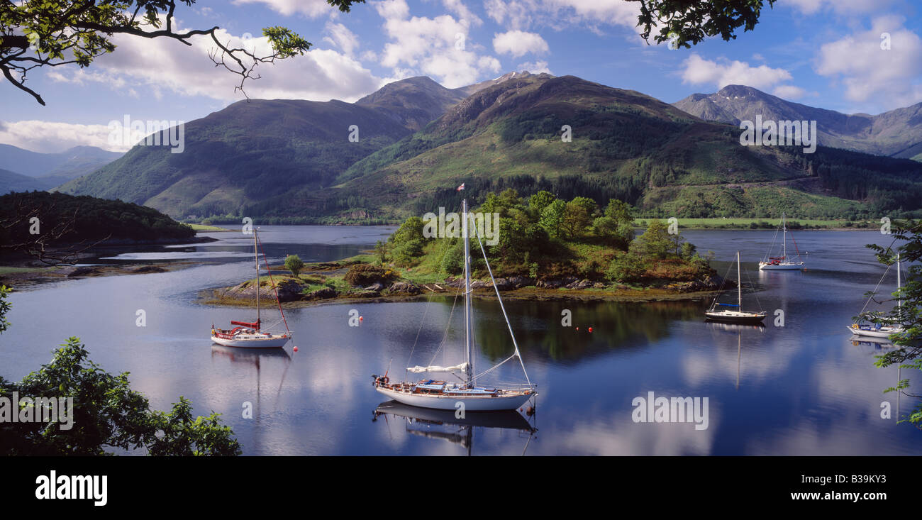 Bishops Bay on Loch Leven near North Ballachulish, Lochaber, Highland, Scotland, UK. - Stock Image