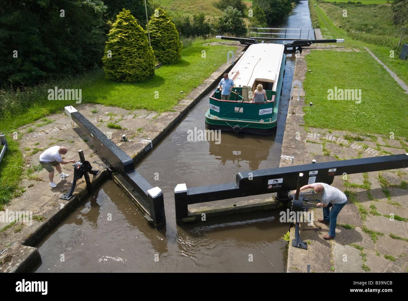 Canal Lock Gates - Stock Image