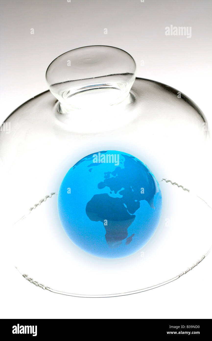 Protecting earth Stock Photo
