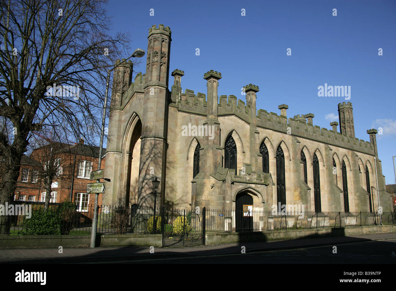 City Of Derby England The Sir Francis Goodwin Designed Gothic Revival Architecture St John Evangelist Church