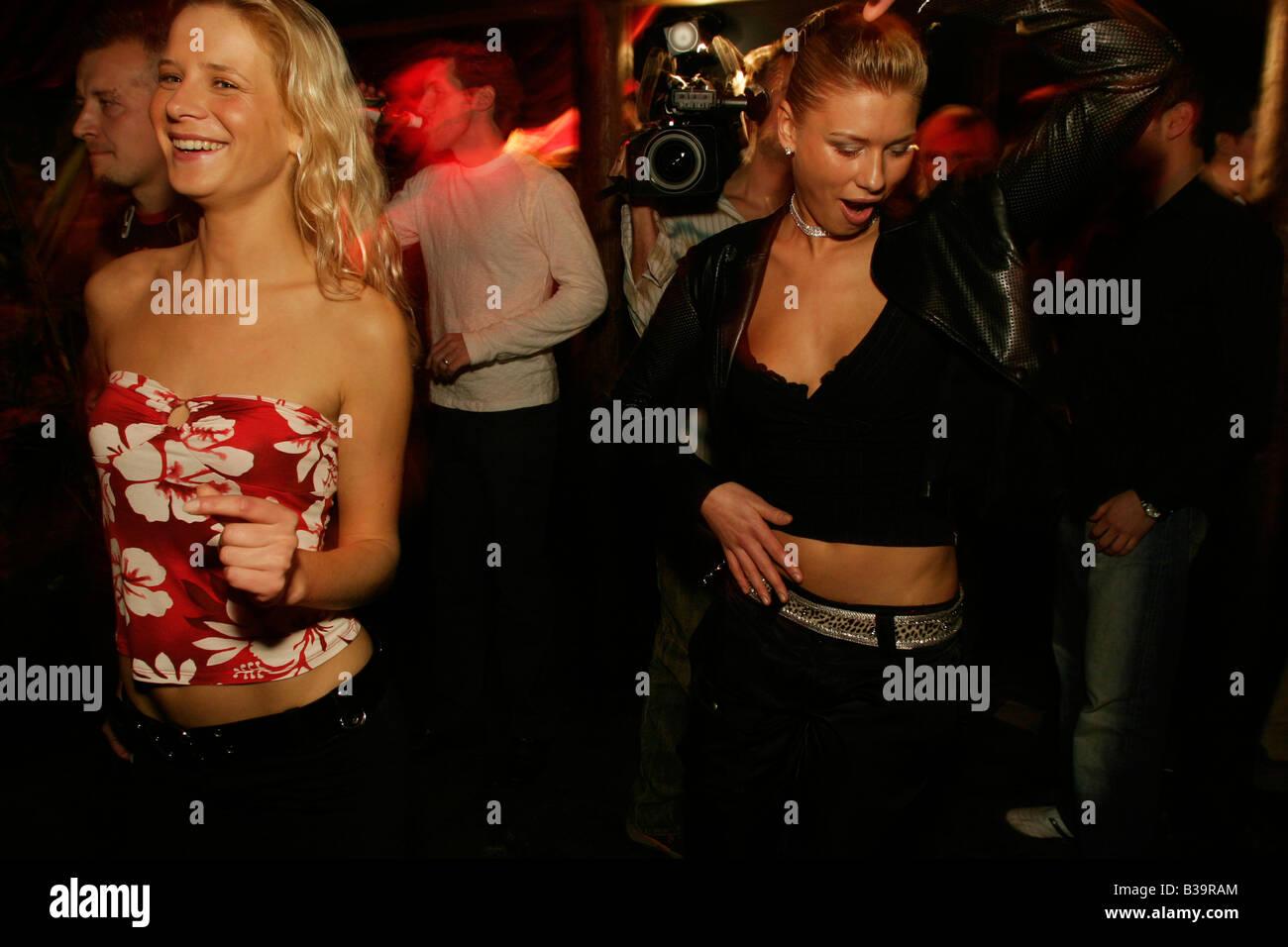 Polish girls at The Cross night club, Kings Cross, London. Stock Photo