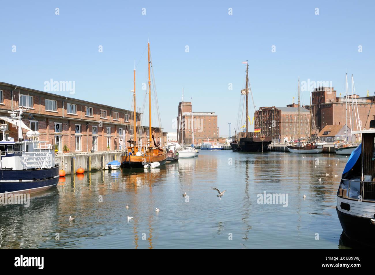 Hafen von Wismar Deutschland Port of Wismar Germany - Stock Image
