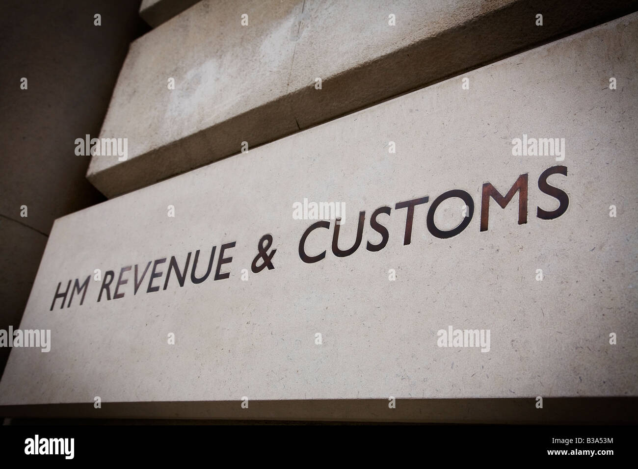 HM Revenue Customs building on Whitehall London UK - Stock Image