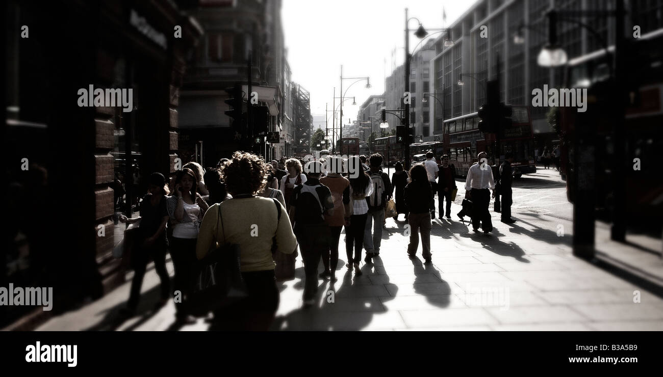 Busy street in central London. - Stock Image
