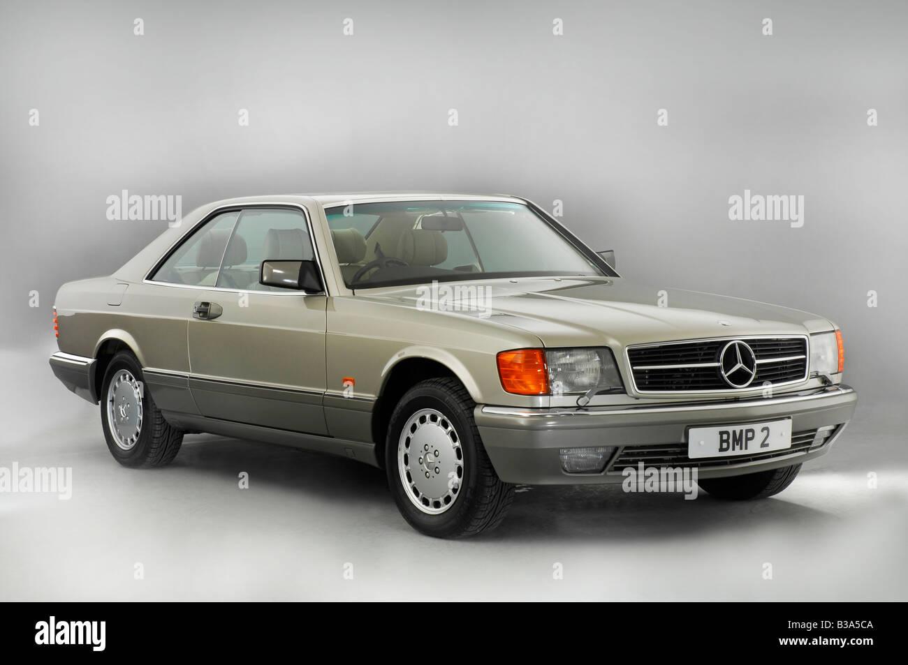1990 Mercedes Benz 500 SEC - Stock Image