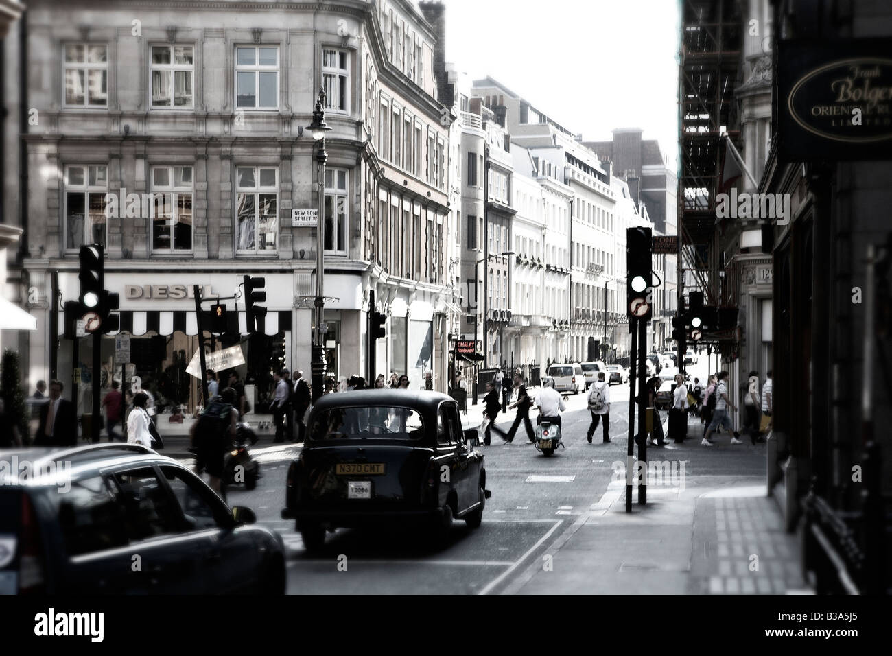 Busy street in London. - Stock Image