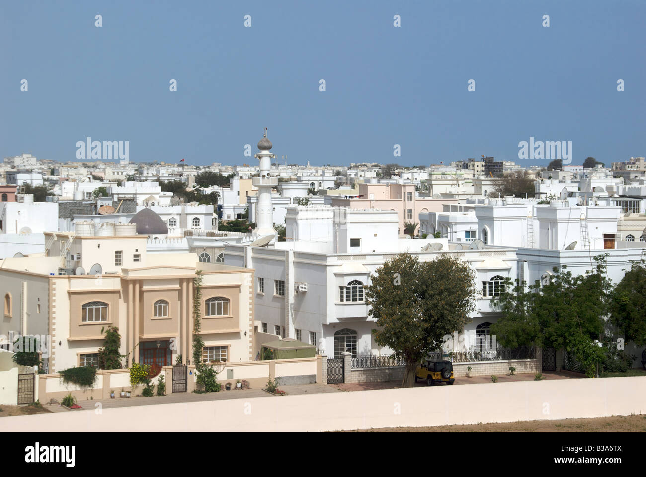 Housing and apartments Al Ghubrah Muscat Oman - Stock Image