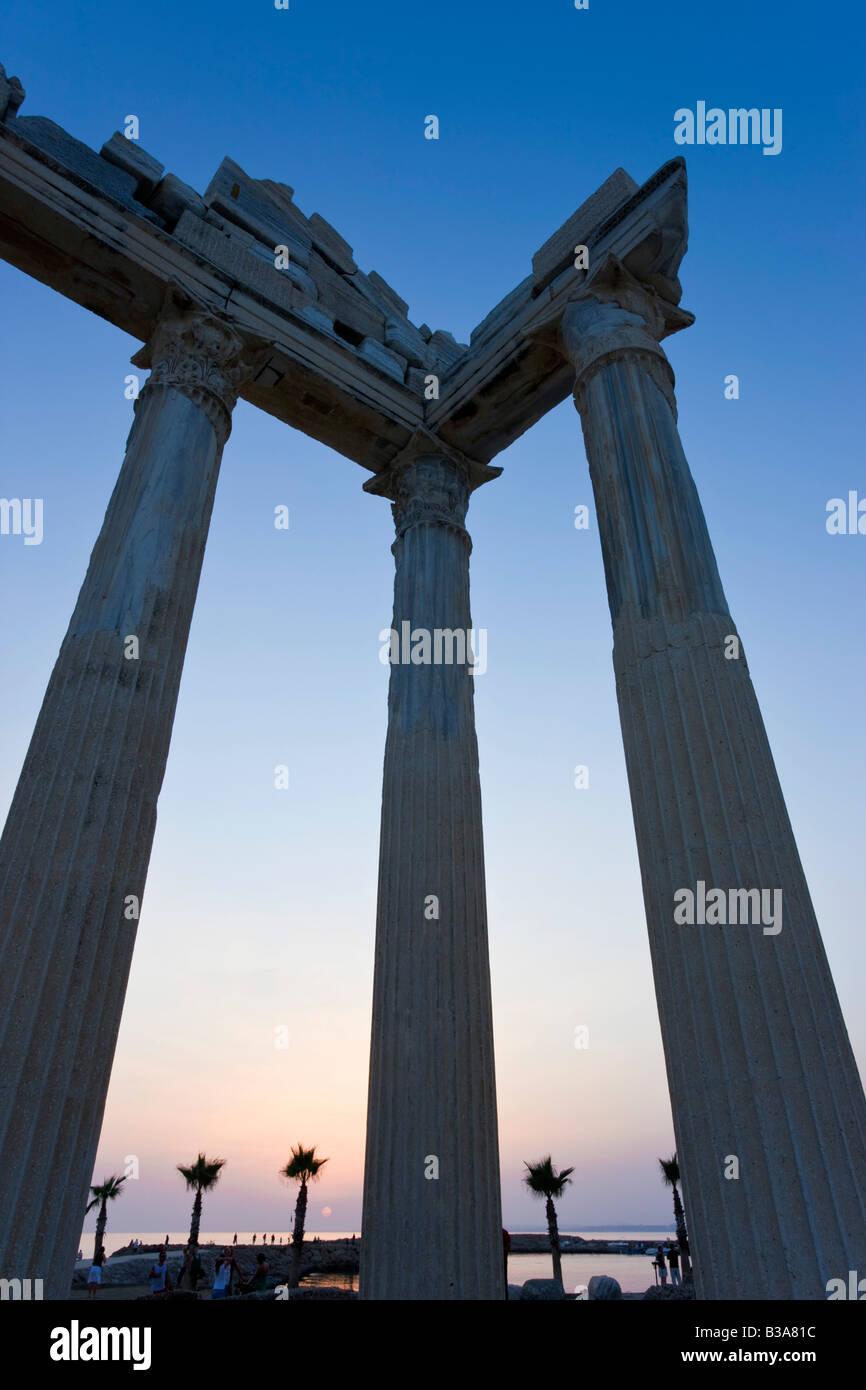 Roman Ruins of the Temple of Apollo, Side, Anatalya Province, Turkey - Stock Image