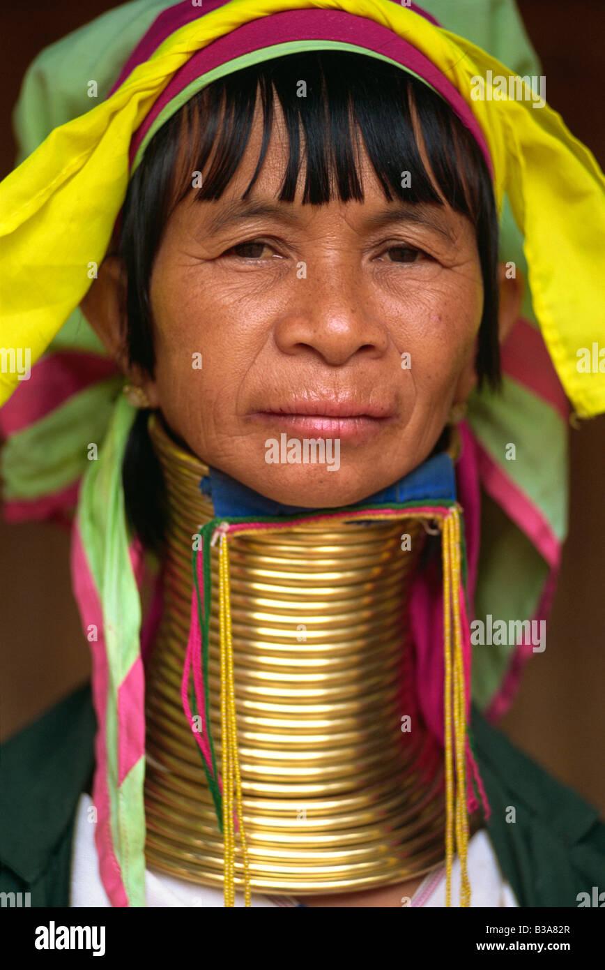 Thailand Chiang Rai Long Neck Karen Hilltribe Long Neck Woman Stock Photo Alamy