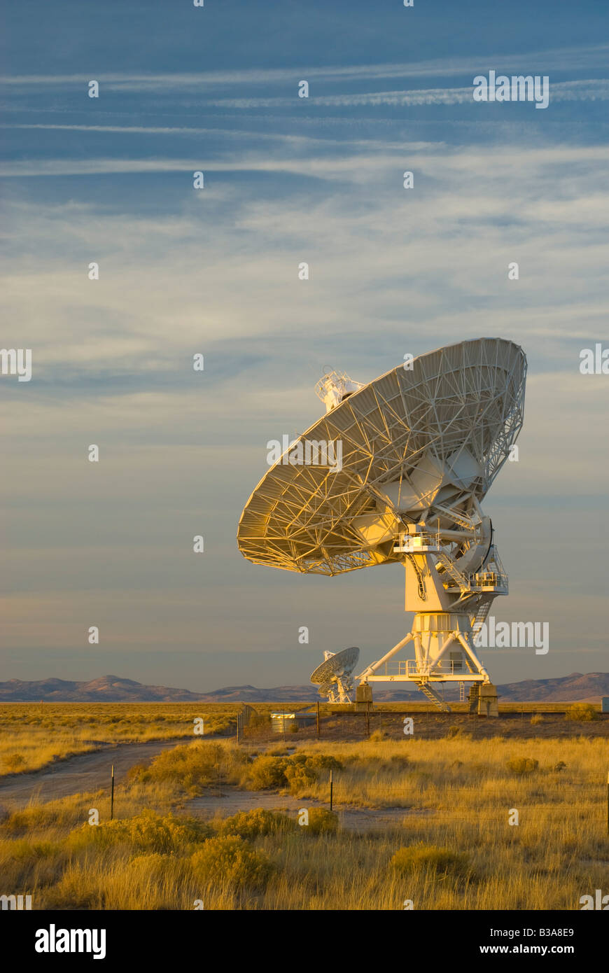 USA, New Mexico, VLA (Very Large Array) of the National Radio Astronomy Observatory Stock Photo