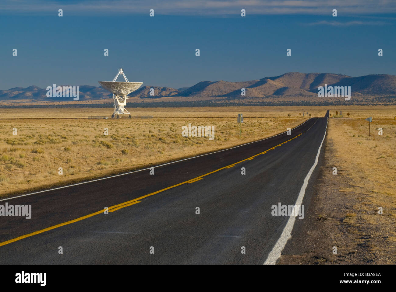 USA, New Mexico, VLA (Very Large Array) of the National Radio Astronomy Observatory - Stock Image