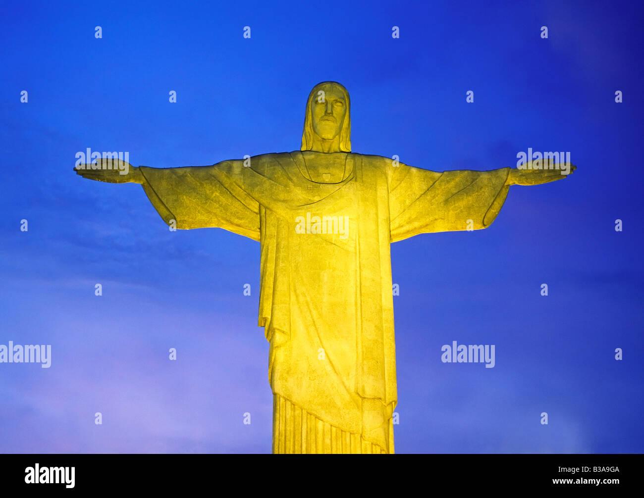 Statue of Christ, Rio de Janeiro, Brazil - Stock Image