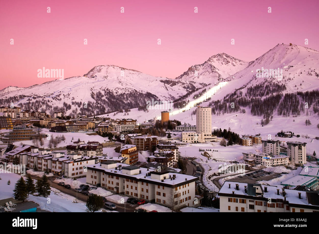 Sestriere Ski Resort Site Of 2006 Winter Olympics Turin Province Piedmont Italy