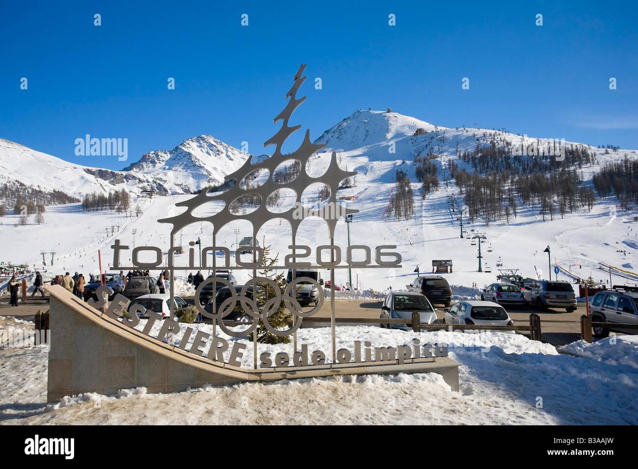 Turin 2006 Winter Olympics Logo Sestriere Province Piedmont Italy
