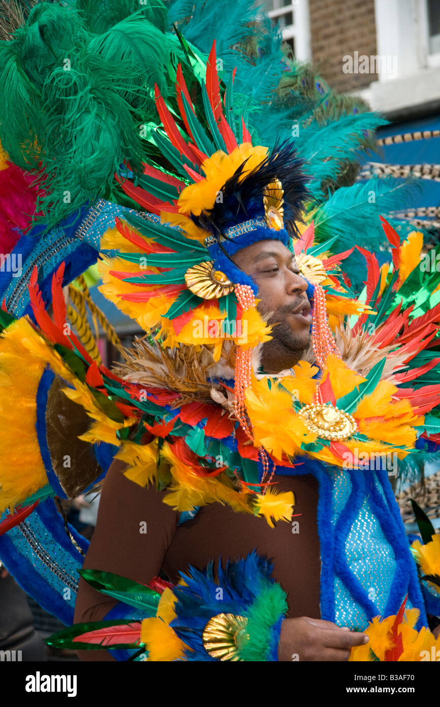 Dancer at the Notting Hill Carnival, London, England, UK.  25th August 2008. - Stock Image