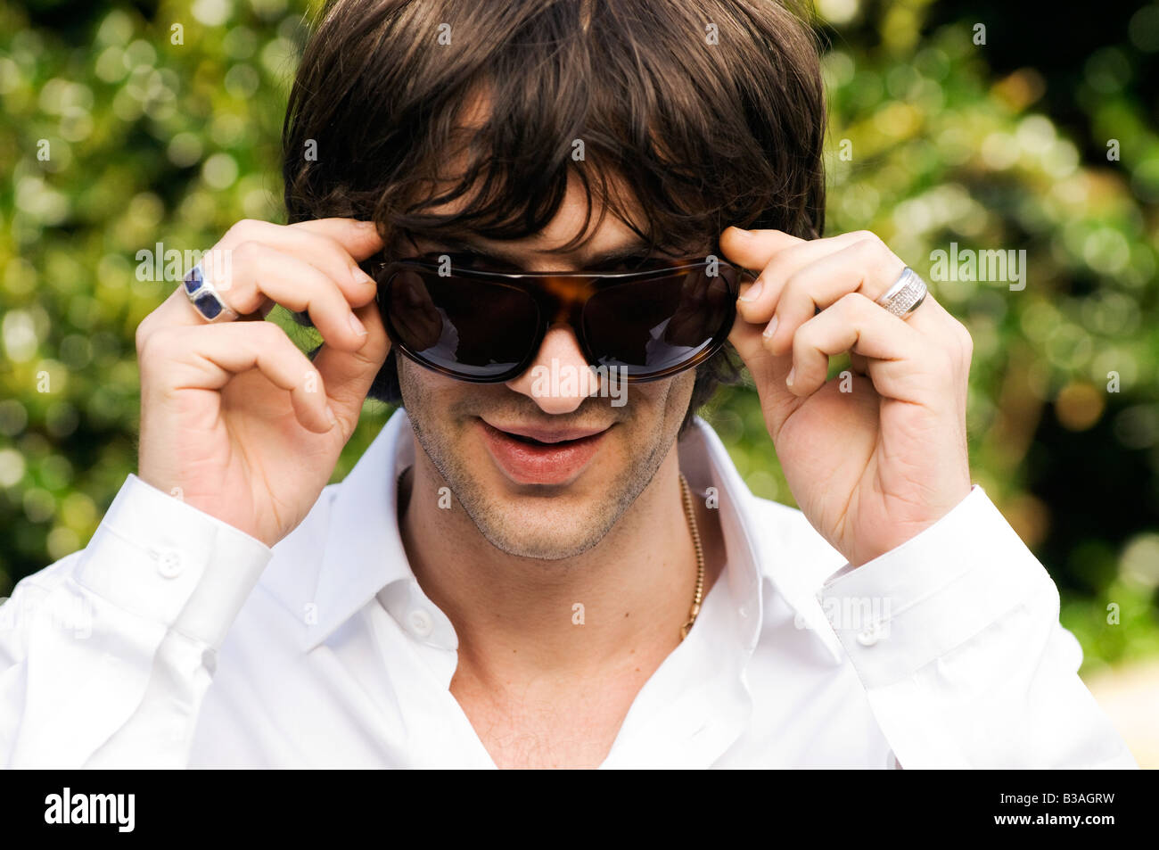 Richard Ashcroft lead singer of top UK band The Verve Stock Photo