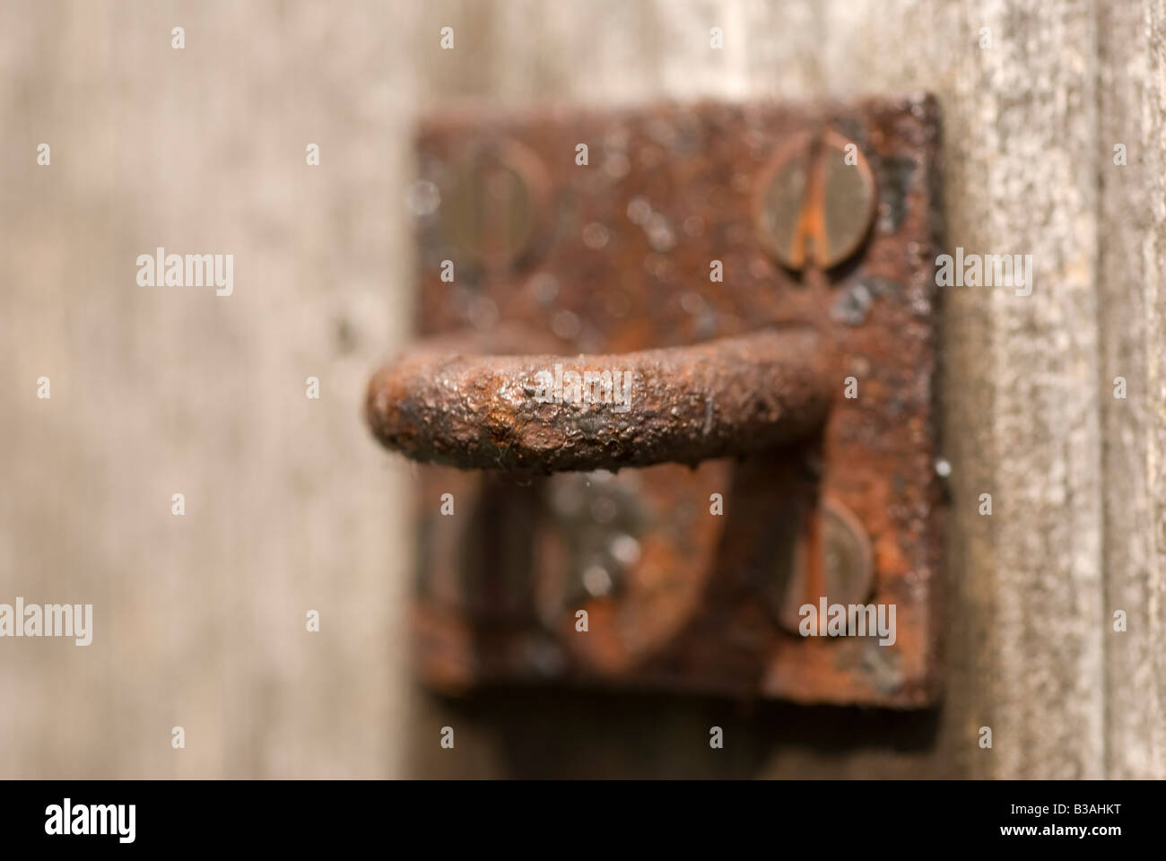Rusted Latch - Stock Image