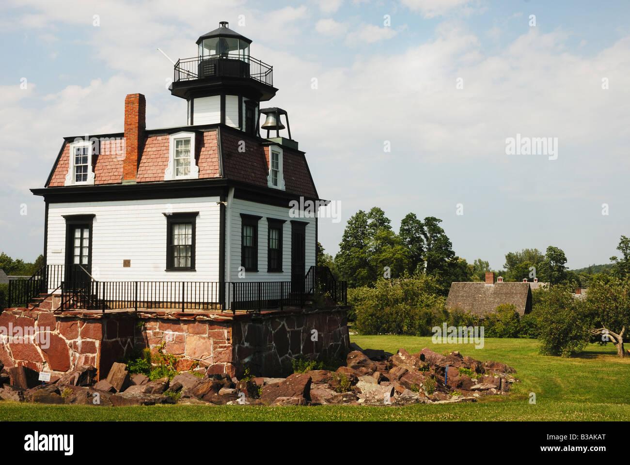 Lighthouse At Shelburne Museum In Burlington Vermont Stock