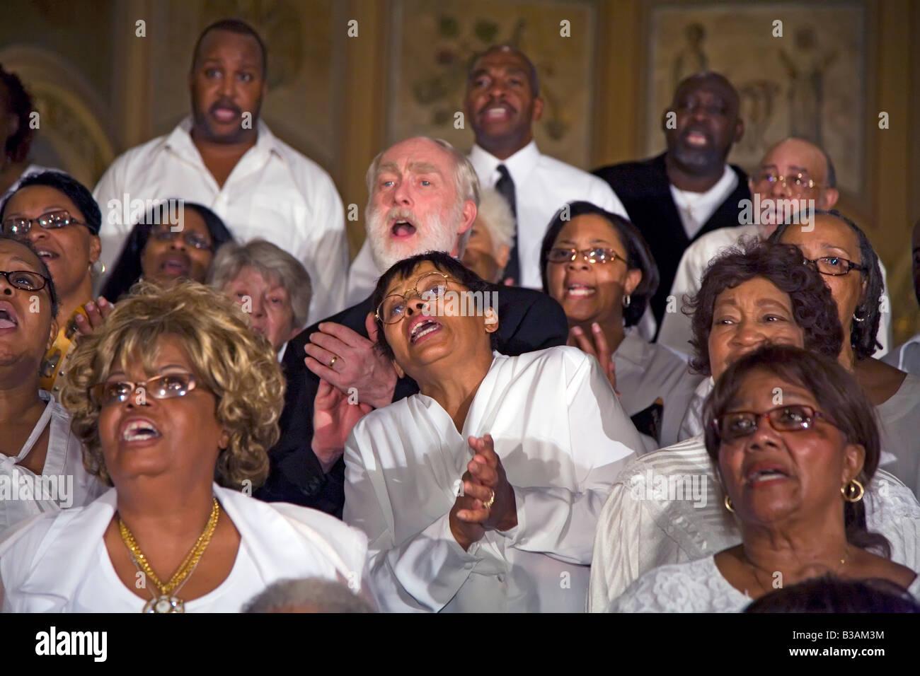 Gospel Choir Concert - Stock Image
