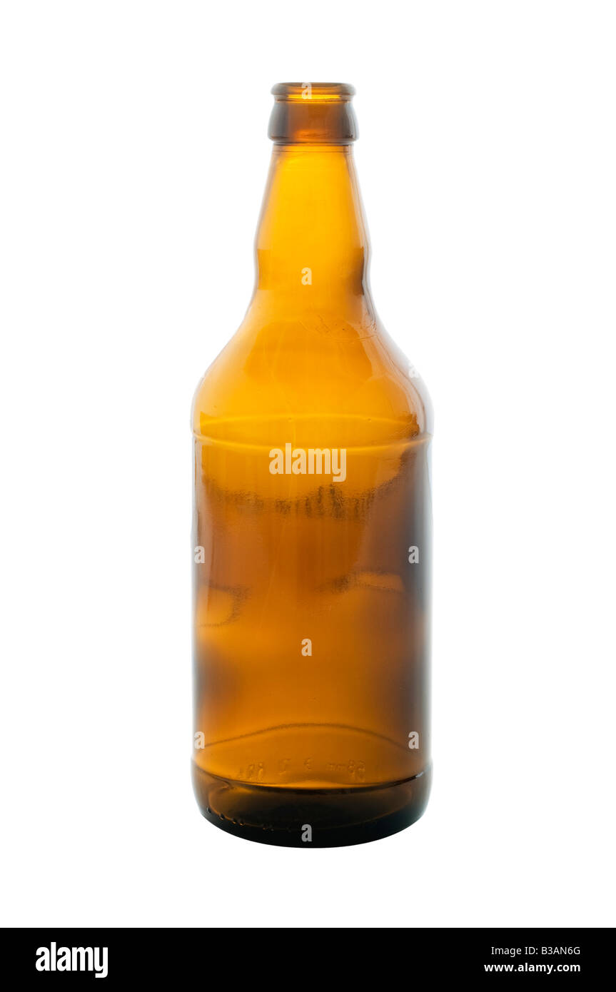 Empty beer bottle - Stock Image