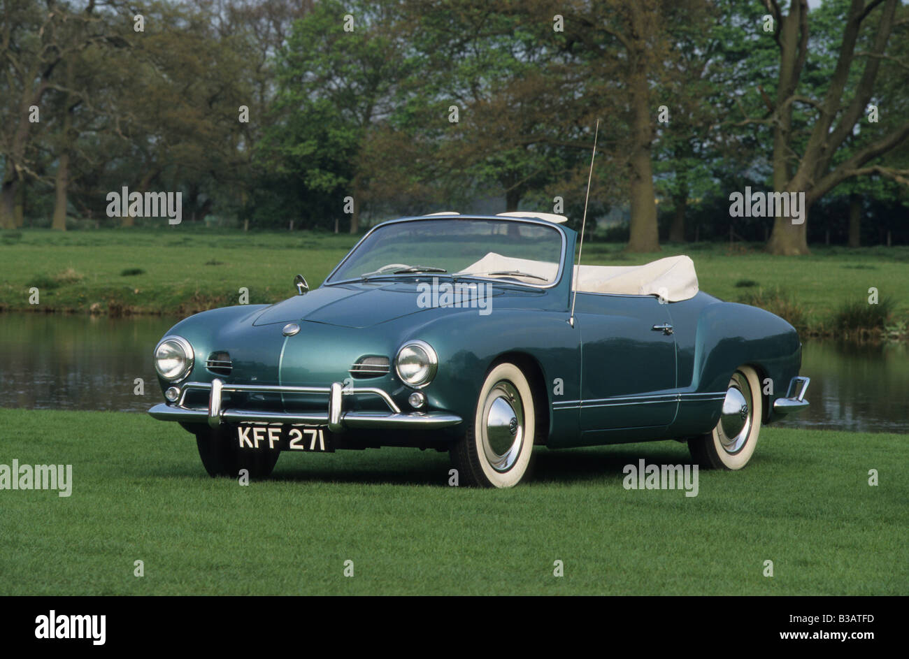 Volkswagen Karmann Ghia Convertible Of 1959 Stock Photo Alamy